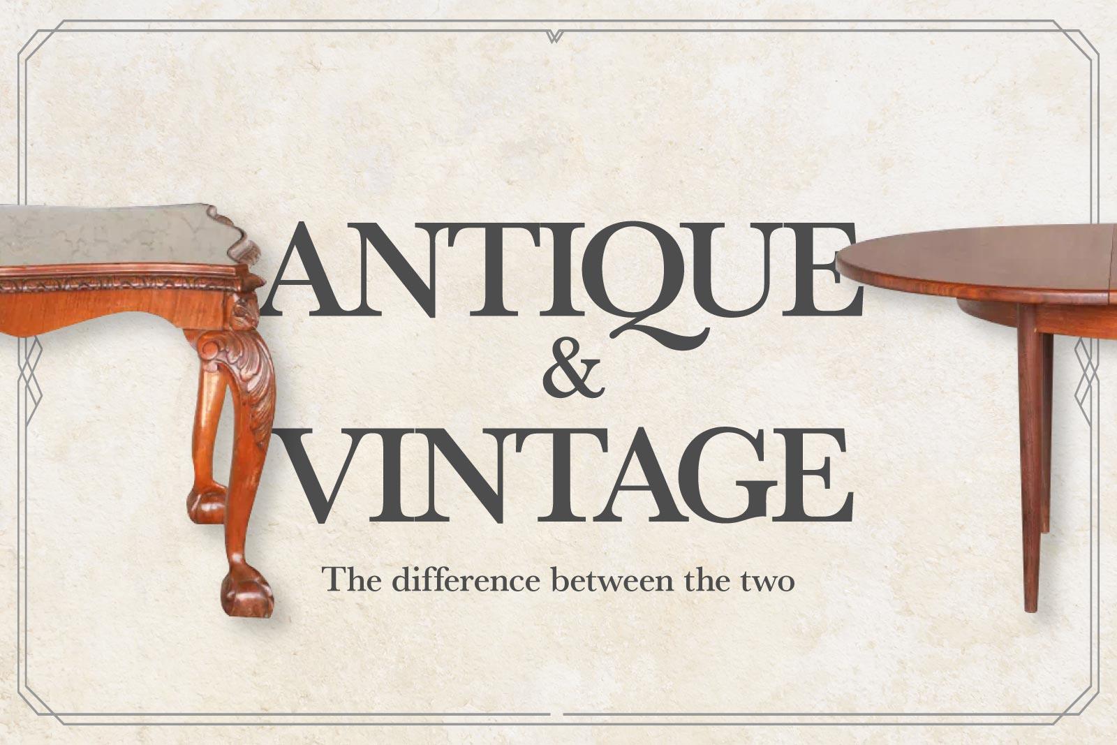 アンティークとヴィンテージ、リプロダクトの違いを知って家具探しに役立てよう